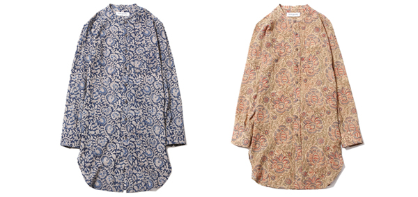ルードギャラリー RUDE GALLERY / BAND COLLAR LONG SHIRT - FLOWER