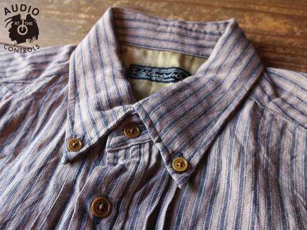 ロストコントロール LOST CONTROL / Linen Stripe Tacc Shirts
