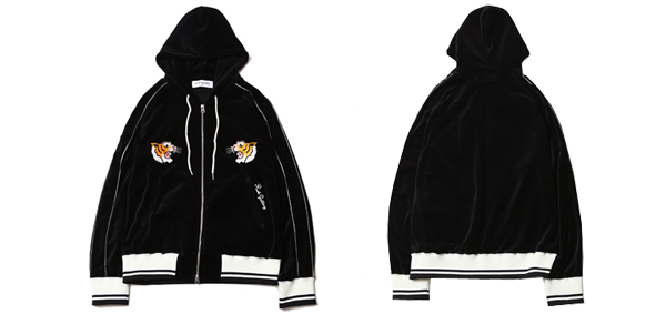 ルードギャラリー RUDE GALLERY / TORA VELOUR ZIP PARKA