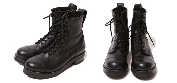 RUDE GALLERY BLACK REBEL / REBELS LACE UP BOOTSルードギャラリーブラックレベル <PUNCHED CAP TOE>