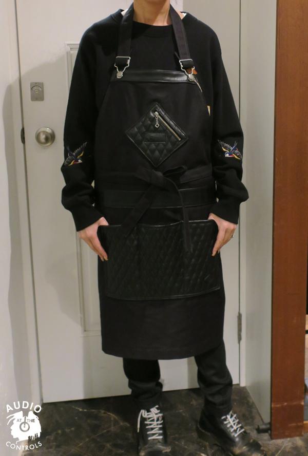 RUDE GALLERY BLACK REBEL / REBELS MECHANIC APRON