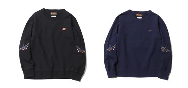 ルードギャラリーブラックレベル RUDE GALLERY BLACK REBEL / BIG SWALLOW CREW SWEAT <ART WORK by H.U.>