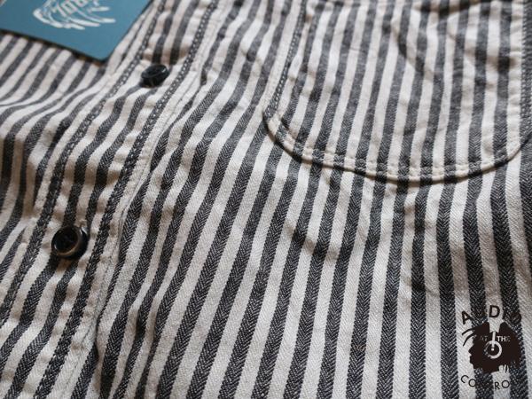 ロストコントロール LOST CONTROL / Linen Stripe Work Shirts
