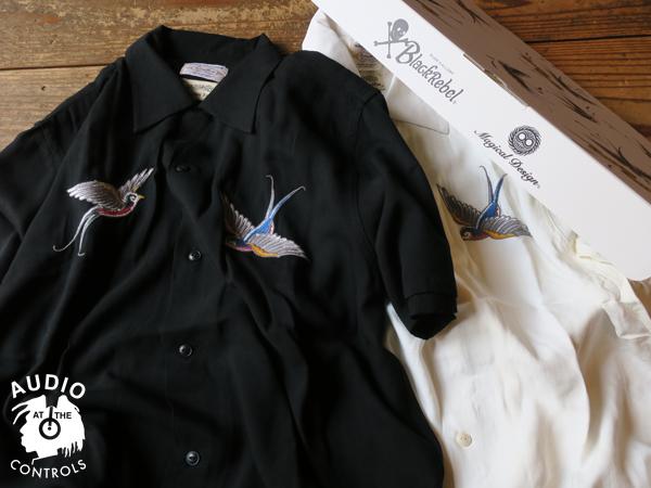 RUDE GALLERY BLACK REBEL / SWALLOW SHIRT artwork by H.U.  マジカルデザイン