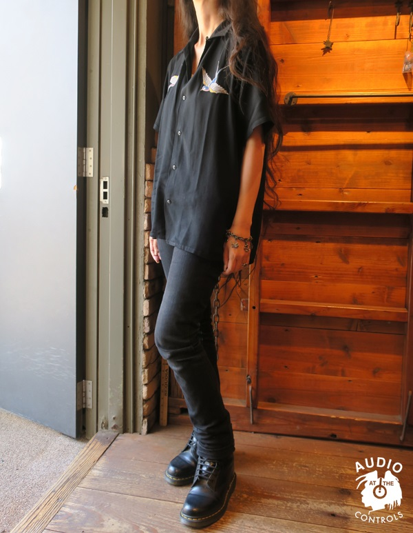 ルードギャラリー RUDE GALLERY BLACK REBEL / SWALLOW SHIRT artwork by H.U.