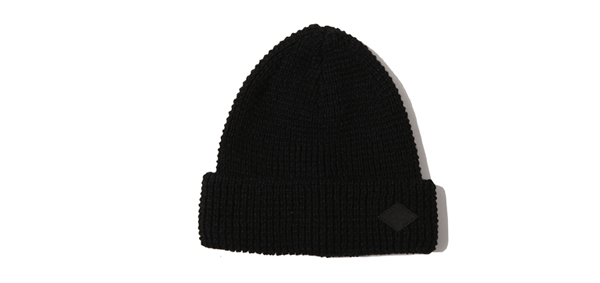RUDE GALLERY BLACK REBEL / WAFFLE STITCH KNIT CAP
