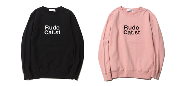 RUDE GALLERY / RUDE CAT st. CREW NECK SWEAT ルードギャラリー