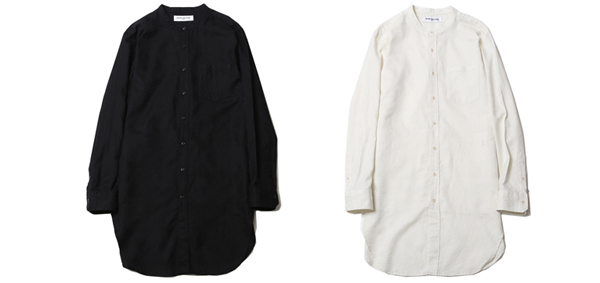 RUDE GALLERY / BAND COLLAR LONG SHIRT -PAISLEY ルードギャラリー