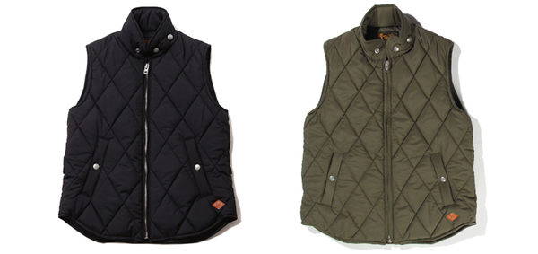 RUDE GALLERY BLACK REBEL / REBELS QUILT VEST