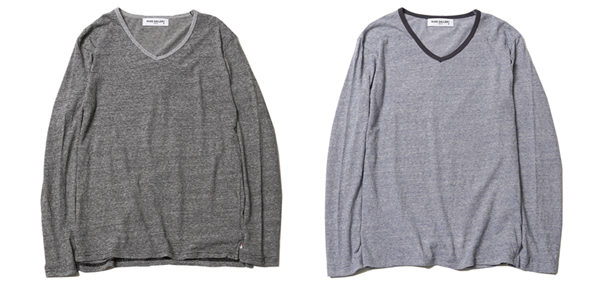 RUDE GALLERY / V-NECK L/S - BODY GARD COLLABORATION ルードギャラリー