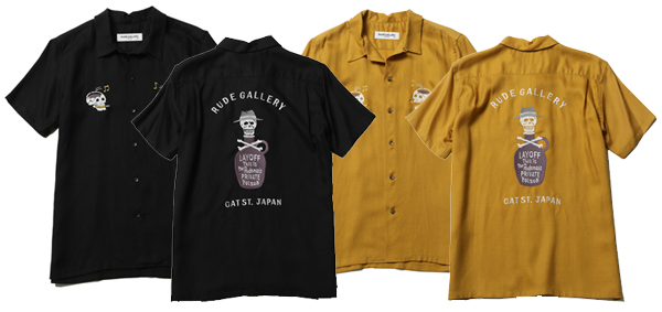 RUDE GALLERY / POISON BOTTLE OPEN COLLAR SHIRT ルードギャラリー