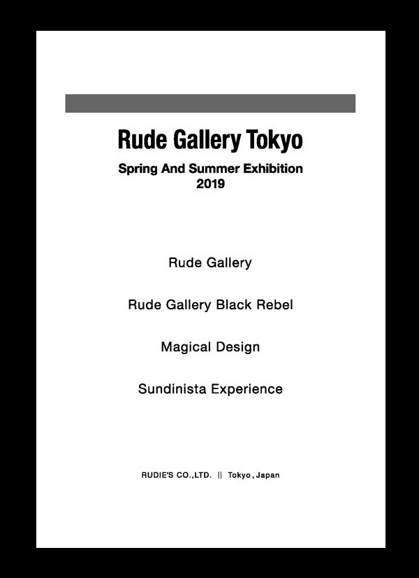 RUDE GALLERY 2019 SPRING&SUMMER COLLECTION