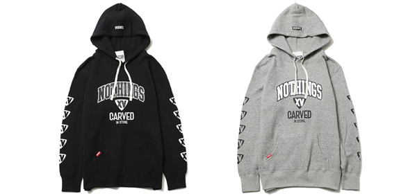 Nothings Carved In Stone×RUDIES COLLEGE HOOD SWEAT