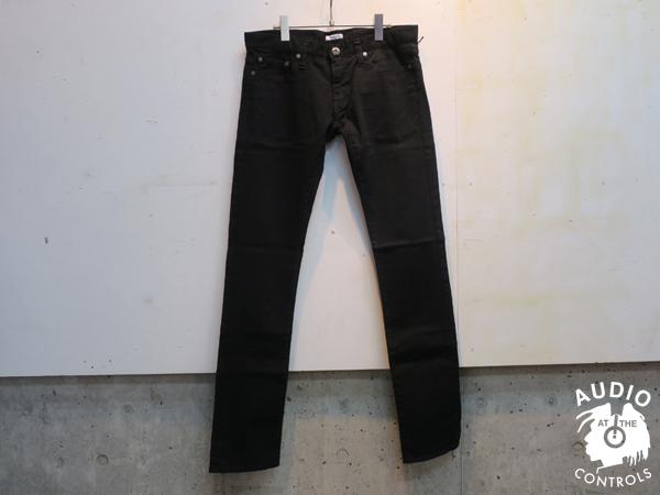 GAVIAL / BLACK SLIM STRETCH DENIM PANTS