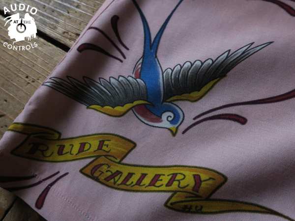RUDE GALLERY BLACK REBEL / SWALLOW SHIRT<ART WORK by H.U.> マジカルデザイン