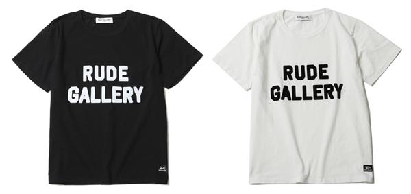 RUDE GALLERY / LOGO BIG SILHOUTTE TEE ルードギャラリー