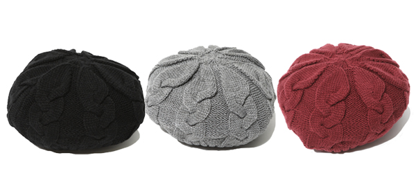 RUDE GALLERY / CABLE KNIT BERET ルードギャラリー