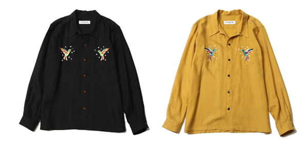 RUDE GALLERY / HUMMINGBIRD OPEN COLLAR L/S SHIRT ルードギャラリー