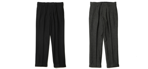 RUDE GALLERY / EMBROIDERED TUCK TROUSERS ルードギャラリー