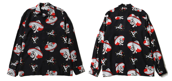 RUDE GALLERY / MARIACHI OPEN COLLAR L/S SHIRT ルードギャラリー