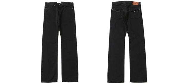 RUDE GALLERY BLACK REBEL / ROAD JACK-� DENIM PANTS - STRETCH