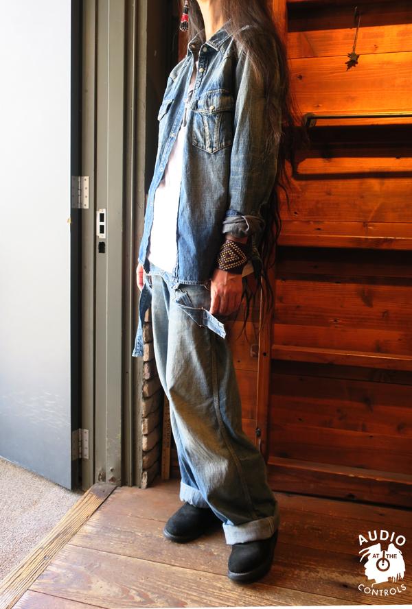 RUDE GALLERY BLACK REBEL / ROAD JACK DENIM SHIRTS <VINTAGE WASH>