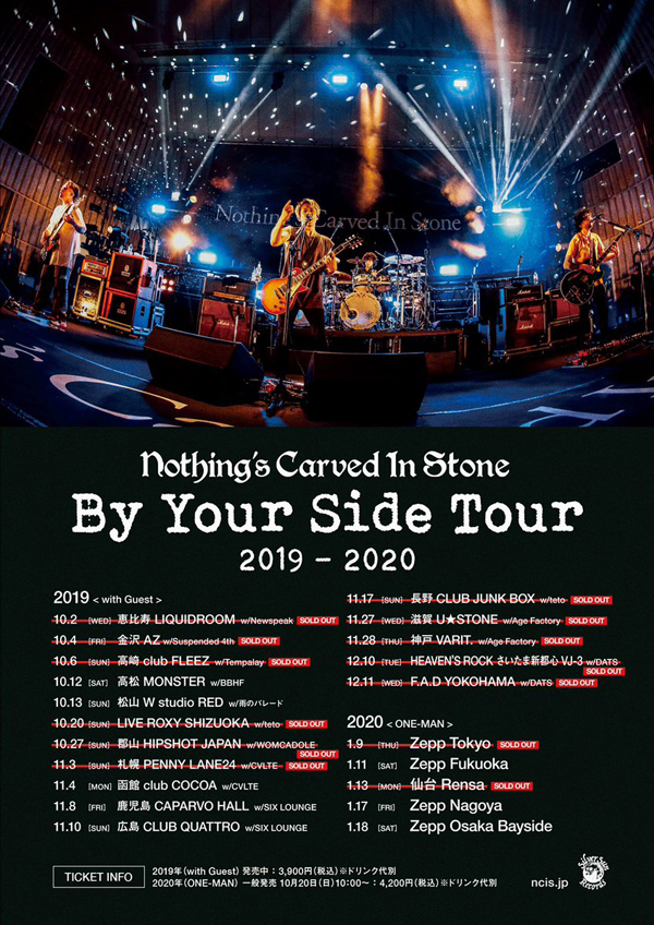 Nothings Carved In StoneBy Your Side Tour 2019-20