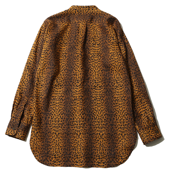 RUDE GALLERY / LEOPARD BAND COLLAR MIDDLE SHIRT