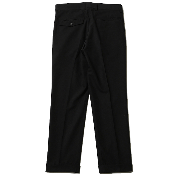 RUDE GALLERY / EMBROIDERED TUCK TROUSERS