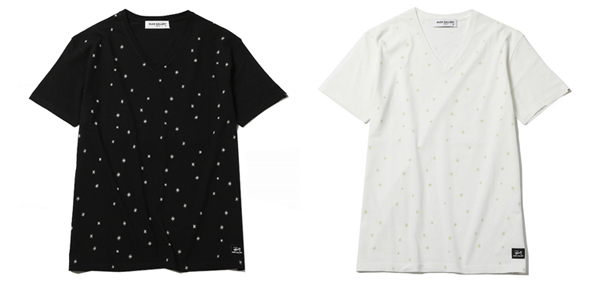 RUDE GALLERY / STARBURST V-NECK TEE