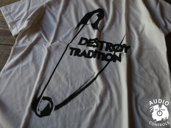 RUDE GALLERY / DESTROY TRADITION BIG PIN BIG SILHOUTTE TEE