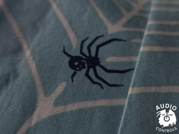 RUDE GALLERY BLACK REBEL / SPIDER NET ALOHA SHIRT