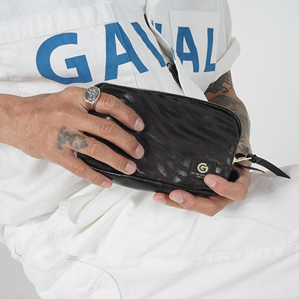 GAVIAL / LEATHER POUCH