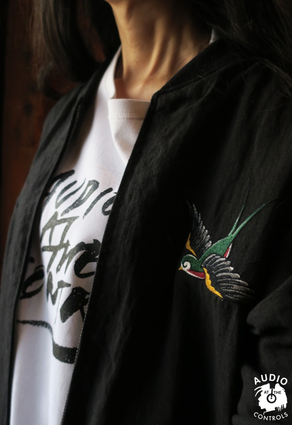 RUDE GALLERY BLACK REBEL / SWALLOW LINEN SOUVENIR JACKET