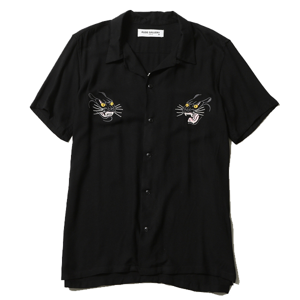 RUDE GALLERY / BLACK PANTHER SOUVENIR SHIRT