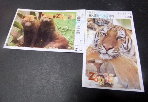 京都市動物園のチケット