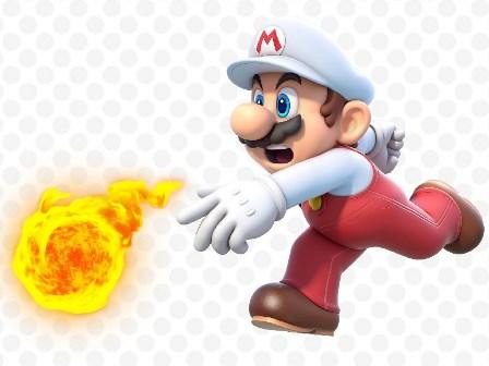 スーパーマリオに投げる火の玉布シルクアート壁のポスターと版画.jpg