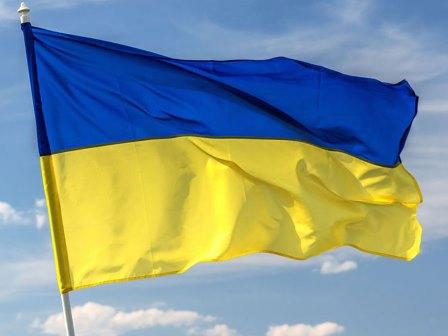 90-150センチ国家スポーツ祝賀ダクロンフラグウクライナ旗なし旗竿.jpg