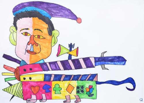 ビートたけしカチンコキャットしょうぶ/Q/2014.JPG