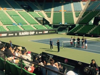 今天有網球比賽@有明球場!!!