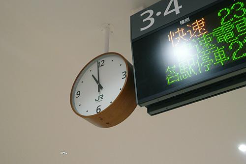 立川駅の時計