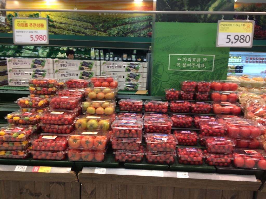 韓国のスーパー店頭