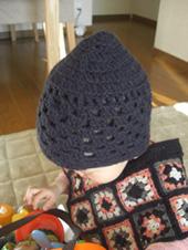 編み方は行き当たりばったりの適当なの。