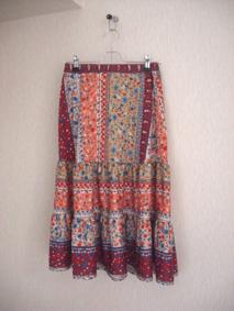 ティアードスカート2元1