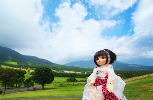 黒姫山を臨む