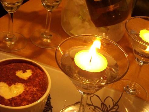 バレンタインのテーブル