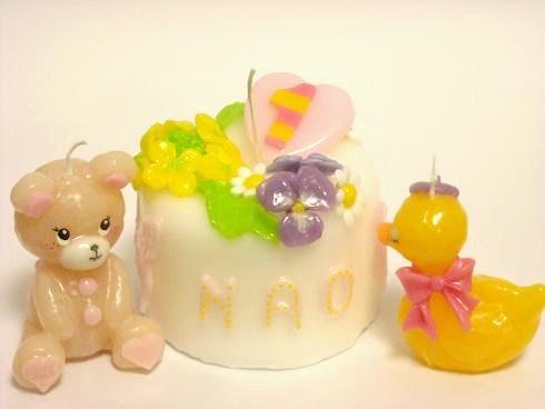 オーダー菜の花ケーキキャンドル