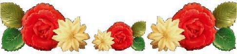 手作りキャンドル牡丹と菊ライン