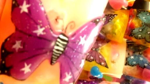 蝶のキャンドル