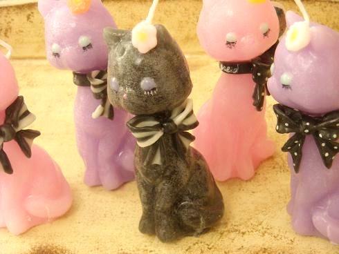 猫キャンドル